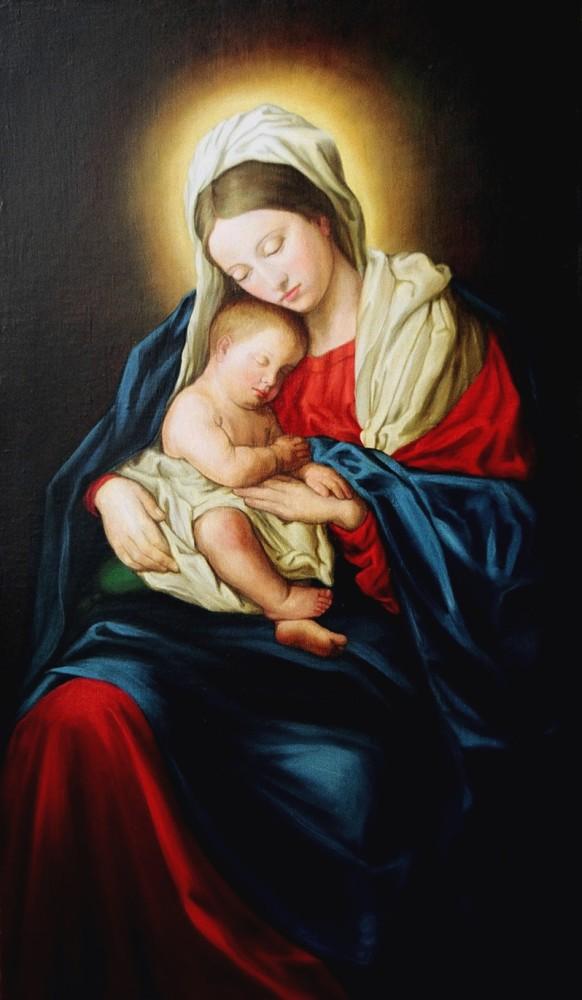 Znalezione obrazy dla zapytania matka boska z dzieci�tkiem